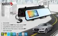Cheap 2014 New Car DVR WIFI GPS Navigation Camera with Rear View Mirror Recorder 1080P 30FPS H.264 140 Wide Lens IR Night Vision 6000B