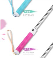 Wholesale Monopod Selfie Stick Extendable Self Timer direct groove Wired Handheld Icanany Z07 plus plus Cable Take Pole for iphone IOS Android