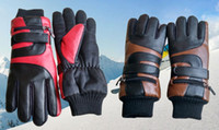 battery warmed gloves - 3 V mAh Winter Waterproof Lithium ion Battery Electric Heating Warming Gloves PU Thick Heated Gloves