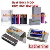 e-cig mods - Mini Eleaf iStick W W W W Simple Pack E Cig E Cigarette clone Mod for Aspire Atlantis Atomizer with USB Connector