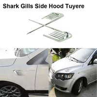 auto side vents - New Car Styling Auto Simulation Vents Decorative Refitting outlet Side False Tuyere Decoration Lateral Shark Gill Tuyere Sticker
