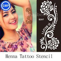 arabic templates - pc New Henna Hand Tattoo Stencil Flower Glitter Airbrush Tribal Arabic Indian Henna Tatoo Templates Stencils For Painting S204