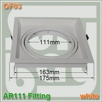 Wholesale AR111 Single Head Wall Ceiling light fitting Adapter AR111 fixture White color