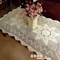 beige coffee table - cotton crochet lace table runner for home decoration coral table runner coffee table sofa cover cloth beige cover