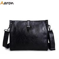 aaron day - Aaron Fashion Casual Envelope Men Leather Messenger Bags Day Clutch Vintage Motorcycle Shoulder Bag Crossbody Bag For Men