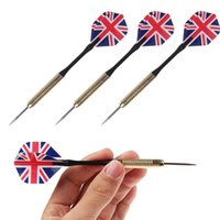 Wholesale 3Pcs Set Needle Tip Darts National Flag Flights Play Dart Throwing Toy