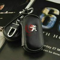 Wholesale Leather key bag set of keys case For Peugeot