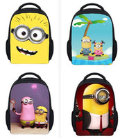 Wholesale Cartoon small yellow People cm Children bag Precious Milk Dad Despicable Me2 backpack Despicable Me schoolbags mix style B36