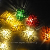 Wholesale Christmas Decorations Wedding Halloween Holiday Party LED Strings Thai Lantern Rattan Ball heart shaped M M new arrival dimmable