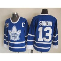 Wholesale 2015 New Hockey Jerseys Mats Sundin Maple Leafs Blue th Anniversary Ice Hockey Uniform Top Quality Cheap Stitched Team New Jersey