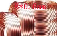 Wholesale 8x0 mm Red Copper pipe T2 pure copper Air Conditioner Refrigerator tube meter long