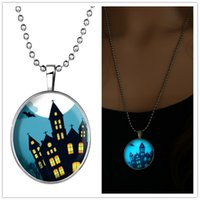 hip hop chain - RINHOO Promote Steampunk Glowing Pendant Necklace Men Stainless Steel Chain charm statement hip hop jewelry Halloween Cramped house photo