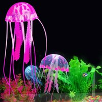 Wholesale hot sale colorful artificial jellyfish plastic design aquarium decoration no pllution