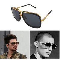 gold sunglasses - Sunglasses Vogue Brand Designer Square Gold Frame Brown Gradient Lens Dita Mach One Sunglasses Women Men Oculos De Sol Masculino
