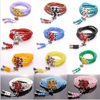 Wholesale Crystal agate chalcedony variety act the role ofing beads bracelet beads hand string