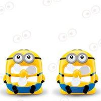 Wholesale Portable Minions Style PVC Fans Mini Rechargeable Cartoon Design Desktop Fan Home Dormitory Necessity L310