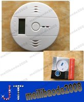 Wholesale 100pcs O75 Home Security Safety CO Gas Carbon Monoxide Alarm Detector Poisoning Gas Fire Warning