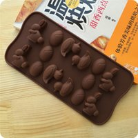 baking terms - Spot long term supply of baked silicone ice trays chocolate mold cake mold small rabbit duck modeling