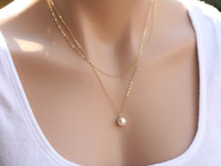 big pearl pendant - Hot Sale Women Fashion Necklaces Big Girl Jewelry Accessories Lady Multilayer Metal Necklaces Womne Pearl Metal Pendants Necklace EF2A