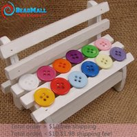 Wholesale Min Order mm Mix colo Holes Plastic Buttons Sewing Craft Scrapbooking Accessories DIY039