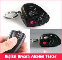 bac keychain - sets breathalyzer Alcohol tester keychain Accurate alcohol testing instrument alcohol Flashlight BAC LED Red