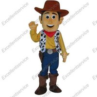 adult woody costume - Customized Professional toy story Woody Cowboy MASCOT Character Costume For Adult Fancy Dress Party Suit