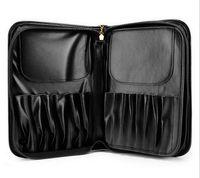 Wholesale 29 Makeup Brushes Holder Package Black PU Leather Pincel Maquiagem Kit Profissional Kabuki Make Up Brushes Bags Portable