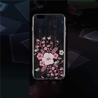 accessories for handbags - Transparent TPU Cell Phones Cases Ultra thin Flower Soft Phone Covers Cell Phone Accessories Covers for Iphone5 Iphone6 S1