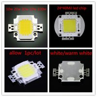 Wholesale 10W W W W W SMD LED bead chip for High Power LED Floodlight lamp Color warm white white red green blue yellow rgb A3