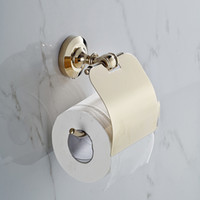 bathroom hardwares - GOLDEN Copper Toilet Paper Holder Paper Rack Gold Plated Towel Rack Bathroom accessories hardwares