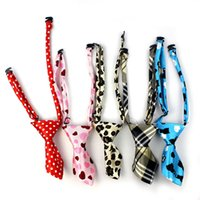 accesories for dogs - Newly Design Adjustable Cat Dog Neck Tie Short Polyester Leopard Ties For Pet Puppy Grooming Accesories July17