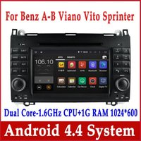 car radio - Android Car DVD Player for Mercedes Benz A Calss W169 B W245 Viano Vito Spinter with GPS Navigation Radio BT Stereo