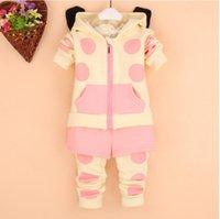 Cheap winter children Best cute cow Polka Dot suit
