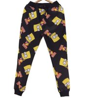 Cheap Emoji Joggers Women Pants Sport Dance Yoga Sweatpants Trousers Hip Hop Pant Bart Simpson 3D Cartoon Sweat Pants Palazzo Pants Loose Iswag