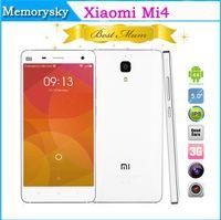 """achat en gros de xiaomi téléphone 3g-De haute qualité 1:1 Xiaomi Mi4 M4 téléphone Débloqué 5"""" Quad Core Android 4.4 2 GO 16 GO Avant 5.0 MP Arrière 8.0 MP 3G GPS Simple SIM Téléphone Intelligent 002601"""