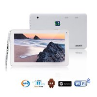Wholesale Hot iRuLu quot Quad Core Android4 Tablet PC MTK8127 Dual Camera Capacitive Screen GB GB G HDMI GPS FM inch Tablet PC