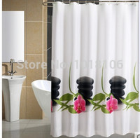 Wholesale 2015 New Arrive Orchid stone Shower Curtain Bathroom Shower Curtain for Bathroom CM CM Shower Curtains for Baths