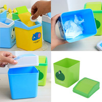 Wholesale Cartoon Portable Plastic Dustbin Trash Cans Mini Table Desk Waste Container Rubbish Bin Desk Organizer for kids bedroom