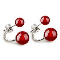 Cheap 925 pure Silver Stud Earrings Jewelry Tremella HZ154