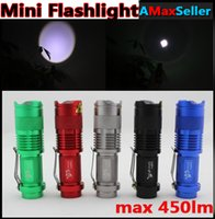 flashlight in torch light - Cheap Portable in Mini Flashlight A LM CREE Q5 LED Flash lights Zoomable Adjustable focus mini Torch For Outdoor Sport Colors