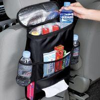 Wholesale Car Cooler Bag Seat Organizer Multi Pocket Arrangement Bag Back Seat Chair Car Styling Car Seat Cover Organizer IQ0005 kevinstyle