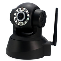 Wholesale Night Vision IR Webcam WiFi Wireless IP Camera Pan Tilt Security White or Black color