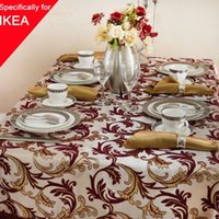 banquet tablecloth lot - Table Cloth x180cm Embroidery Tablecloth Handmade Embroidered Jacquard Plant High end Party Banquet Cover Decor