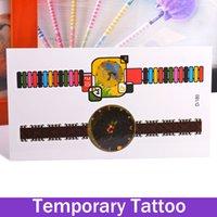 art wrist watch - Waterproof Body Art Sexy Temporary Tattoos Sticker Stickers Removable Hot Colorful Clock Rainbow Watches Tatoo