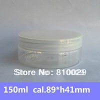 Wholesale 150ml PET Clear Jar Plastic Storage wtih PP Cap All transparent Cream Container Cosmetic Packaging