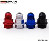 Wholesale Tansky M28 to AN Rear Block Breather Fittings Plug For Honda Acura B16 B18 Gumetal Default color Blue EP FT001 AN10