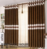 Wholesale Home design Chenille stitching Living room curtains Modern style blind curtain bedroom curtains for window