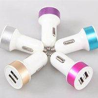 Wholesale USB Car Charger Micro Dual Usb Port Car Chargers Universal Vehicle Adapter for iphone ipad ipod