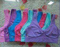 Wholesale 9 colors Sexy Bras women yoga bra Slimming Underwear Seamless top quality