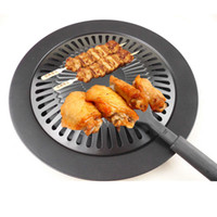 Wholesale 2015 Cooking Tools Non stick Gas Grill Pan Black Barbeque Kebab BBQ Pan Frying Roasting Pans Outdoor Saucepan Panela Sartenes